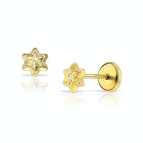 Cercei steluță din aur galben