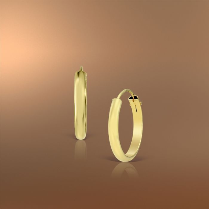 Cercei rotunzi din aur galben