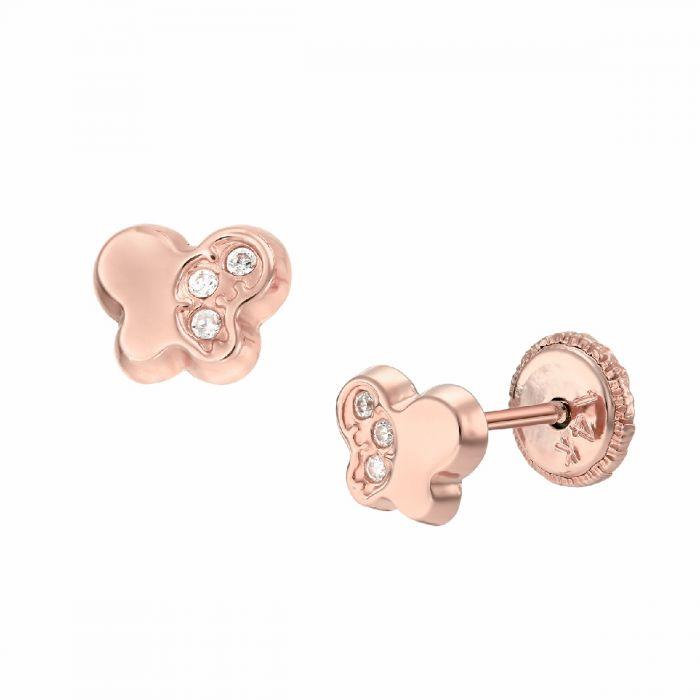 Cercei bebe aur roz